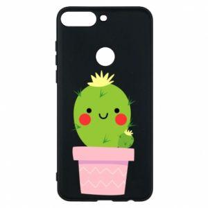 Etui na Huawei Y7 Prime 2018 Śliczny uśmiechnięty kaktus