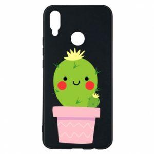 Etui na Huawei P Smart Plus Śliczny uśmiechnięty kaktus