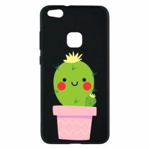 Etui na Huawei P10 Lite Śliczny uśmiechnięty kaktus
