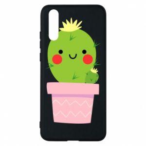 Etui na Huawei P20 Śliczny uśmiechnięty kaktus