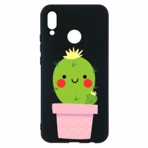 Etui na Huawei P20 Lite Śliczny uśmiechnięty kaktus