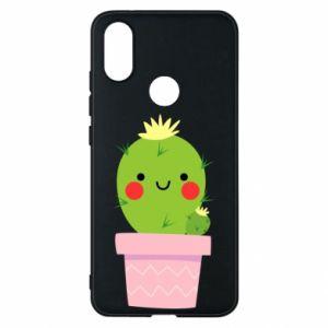 Etui na Xiaomi Mi A2 Śliczny uśmiechnięty kaktus