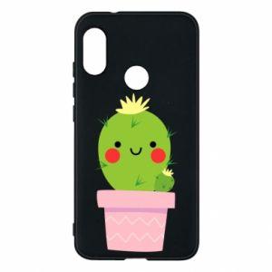 Etui na Mi A2 Lite Śliczny uśmiechnięty kaktus