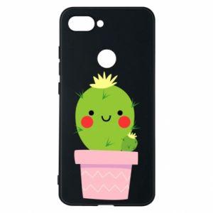 Etui na Xiaomi Mi8 Lite Śliczny uśmiechnięty kaktus