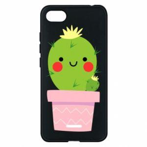 Etui na Xiaomi Redmi 6A Śliczny uśmiechnięty kaktus
