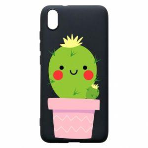 Etui na Xiaomi Redmi 7A Śliczny uśmiechnięty kaktus