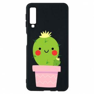 Etui na Samsung A7 2018 Śliczny uśmiechnięty kaktus