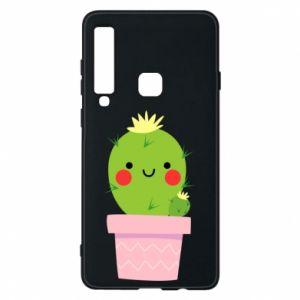 Etui na Samsung A9 2018 Śliczny uśmiechnięty kaktus