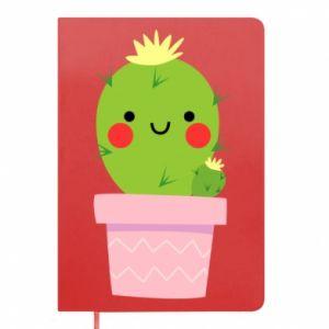 Notes Śliczny uśmiechnięty kaktus