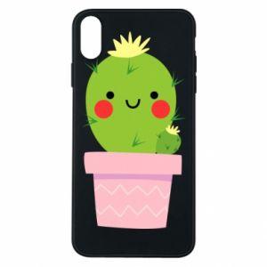 Etui na iPhone Xs Max Śliczny uśmiechnięty kaktus