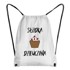 Plecak-worek Słodka dziewczyna