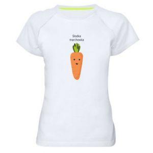 Damska koszulka sportowa Słodka marchewka