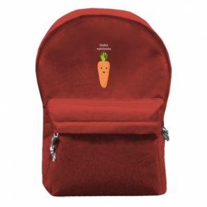 Plecak z przednią kieszenią Słodka marchewka