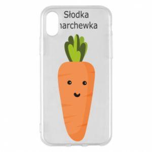 Etui na iPhone X/Xs Słodka marchewka