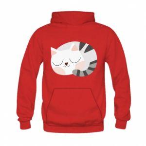Bluza z kapturem dziecięca Słodki kot
