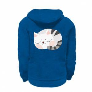 Bluza na zamek dziecięca Słodki kot