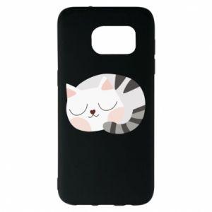 Etui na Samsung S7 EDGE Słodki kot