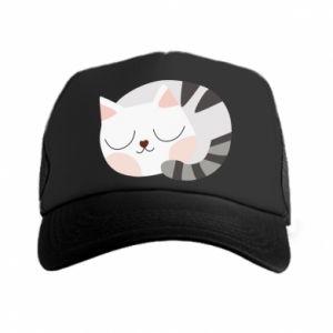 Czapka trucker Słodki kot