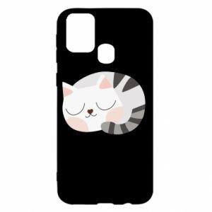 Etui na Samsung M31 Słodki kot