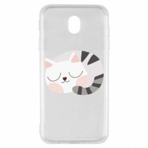 Etui na Samsung J7 2017 Słodki kot