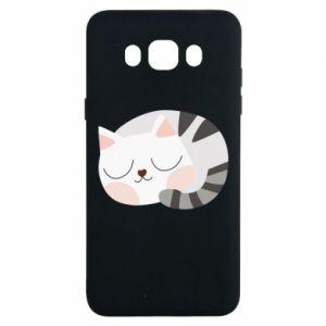 Etui na Samsung J7 2016 Słodki kot