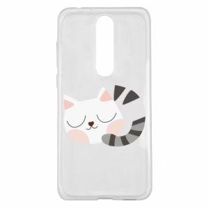 Etui na Nokia 5.1 Plus Słodki kot