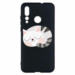 Etui na Huawei Nova 4 Słodki kot