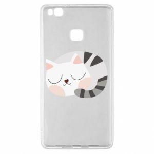 Etui na Huawei P9 Lite Słodki kot