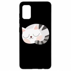 Etui na Samsung A41 Słodki kot