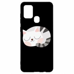 Etui na Samsung A21s Słodki kot