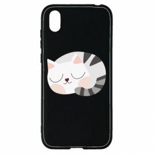 Etui na Huawei Y5 2019 Słodki kot