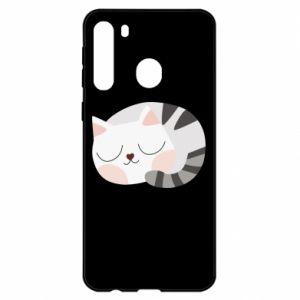 Samsung A21 Case Sweet cat