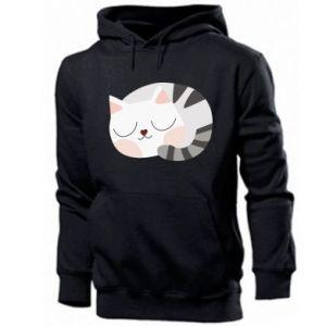 Męska bluza z kapturem Słodki kot