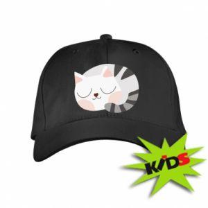 Dziecięca czapeczka z daszkiem Słodki kot