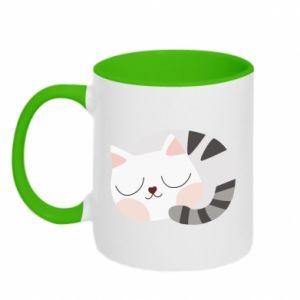 Kubek dwukolorowy Słodki kot