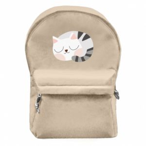Backpack with front pocket Sweet cat
