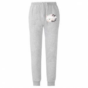 Męskie spodnie lekkie Słodki kot