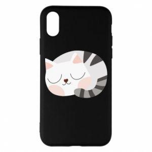 Etui na iPhone X/Xs Słodki kot