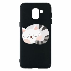 Etui na Samsung J6 Słodki kot