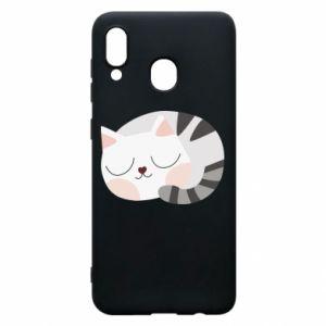 Etui na Samsung A20 Słodki kot