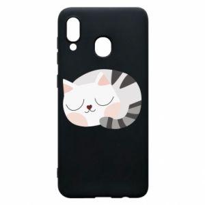 Etui na Samsung A30 Słodki kot