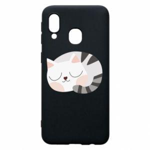 Etui na Samsung A40 Słodki kot