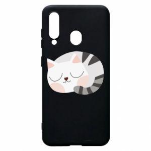 Etui na Samsung A60 Słodki kot