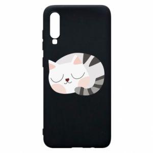 Etui na Samsung A70 Słodki kot