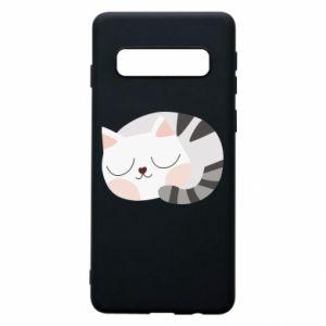 Etui na Samsung S10 Słodki kot