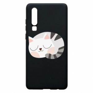 Etui na Huawei P30 Słodki kot