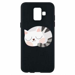 Etui na Samsung A6 2018 Słodki kot
