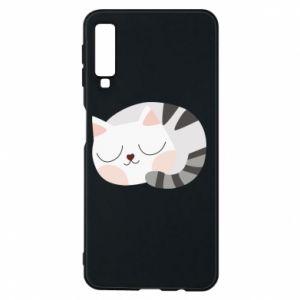 Etui na Samsung A7 2018 Słodki kot