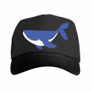 Trucker hat Cute whale
