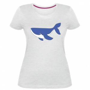 Women's premium t-shirt Cute whale